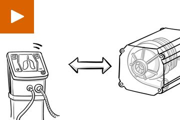 Illustriertes Bild von technischen Geräten, Zeichnung im Comicstil